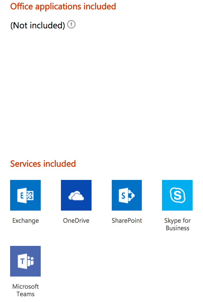 Office 365 Business Essentials features